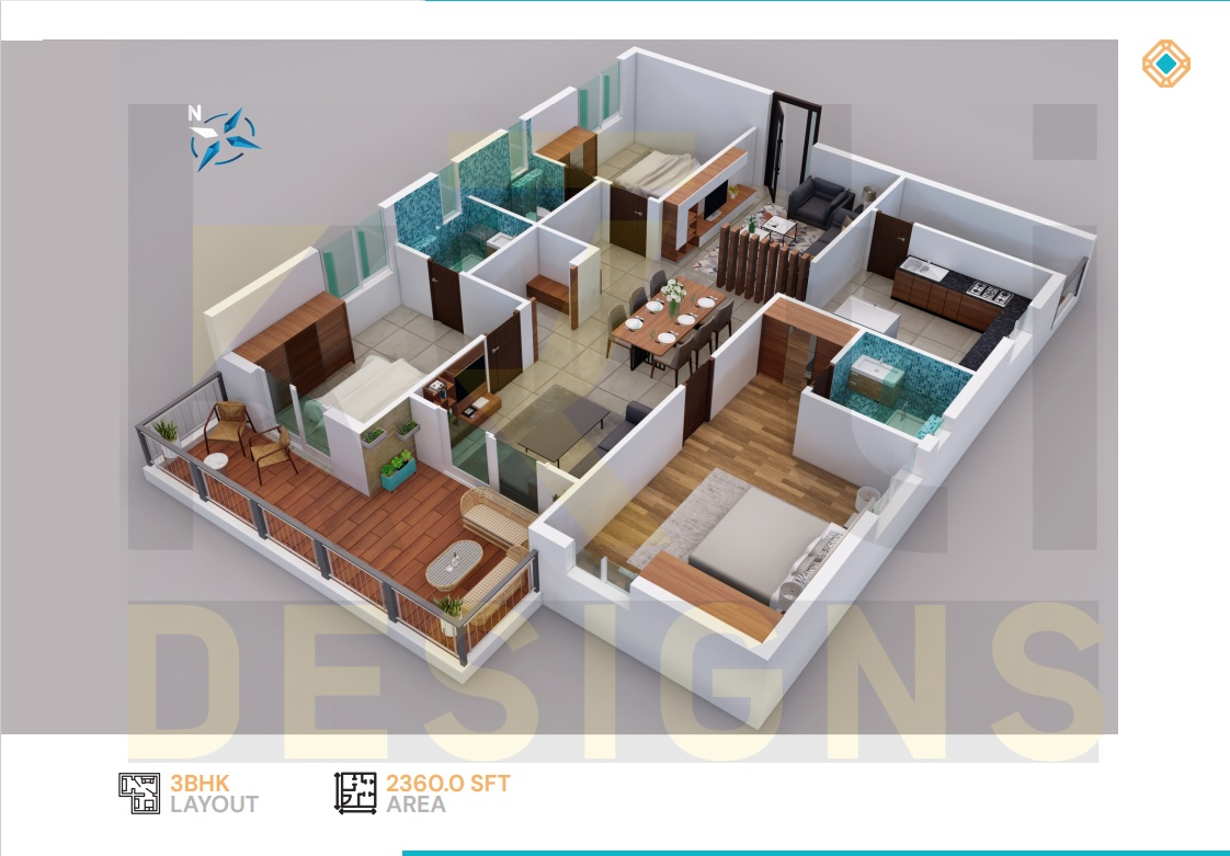 East Facing 3BHK - 2360 Sft