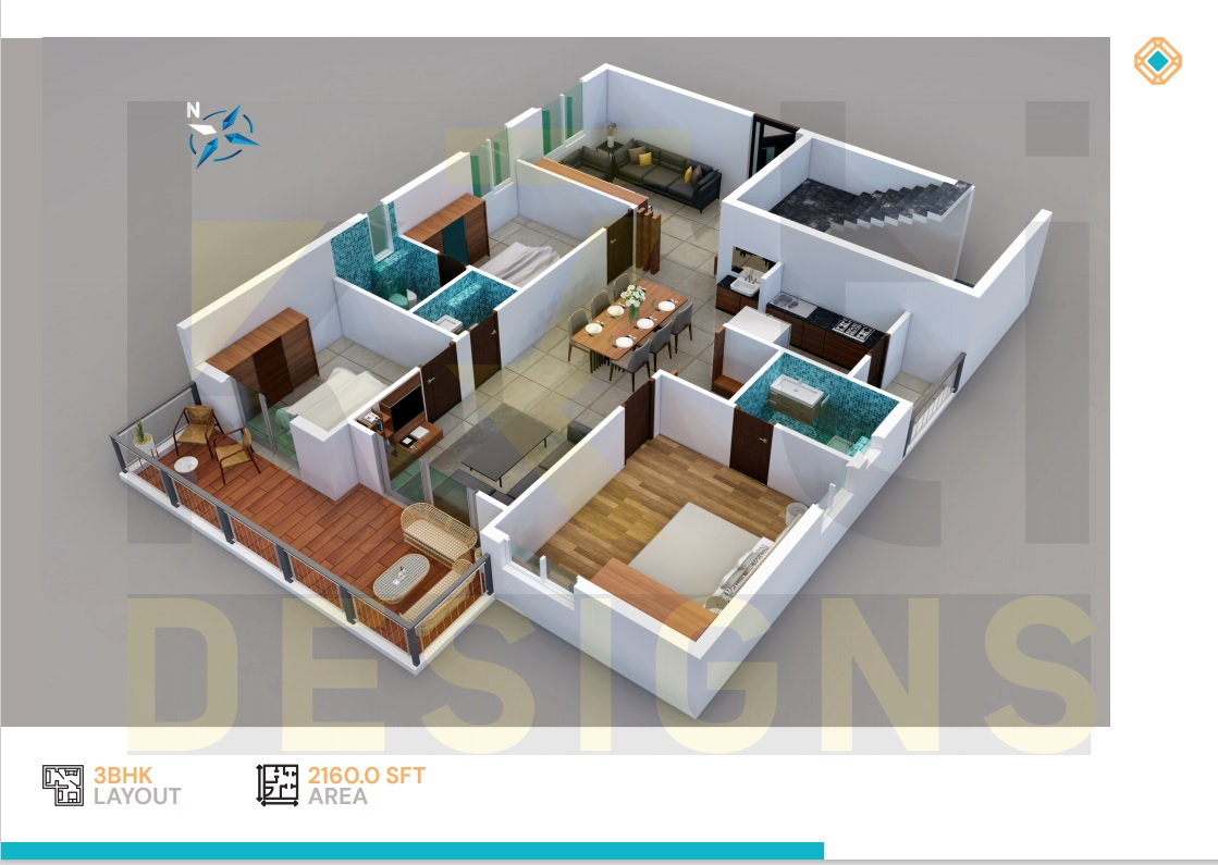 East Facing 3BHK - 2160 Sft